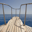 View from the bow of a sailing boat — Stock Photo #3196059