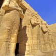 Statues in Temple of Ramses III — Stock Photo