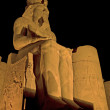 Stock Photo: Statue of Ramses II at night