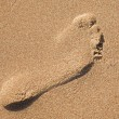 Footprint in the sand — Stock Photo #3197298