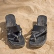 Foto de Stock  : Pair of sandals on beach