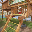 Foto Stock: Childrens climbing frame