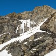 Frozen waterfall in the mountains — Stock fotografie
