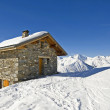 Small mountain hut on a ski slope — Stock Photo #3198037