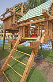 Childrens climbing frame — 图库照片