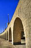 Arches of a small viaduct — Stock Photo