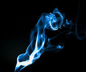 Blue abstract smoke trails — Stock Photo