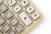 Electronic calculator isolated on white — Stock Photo
