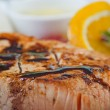 Salmon steak a la carte — Stock Photo