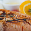 Foto Stock: Salmon steak lcarte