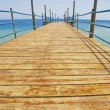 Wooden jetty on a tropical beach — Stock Photo #3449357