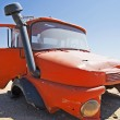 Abandoned lorry cab in the desert — Stockfoto