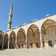 Inner courtyard of the Blue Mosque in Istanbul — Stock Photo