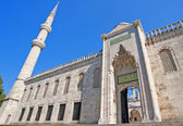 Entrance to the Blue Mosque in Istanbul — Stock Photo