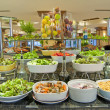Stock Photo: Salad buffet in luxury hotel restaurant