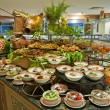 Foto Stock: Salad buffet in luxury hotel restaurant