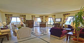 Lounge of a luxury hotel suite — Stok fotoğraf