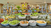 Salad buffet in a luxury hotel restaurant — Stock Photo