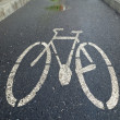 Bicycle lane — Stok fotoğraf