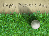 Vater tag golf — Stockfoto
