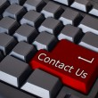 Red contact us button — Stock Photo