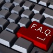 Red FAQ button - Stock Photo