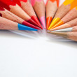 Stock Photo: Hot tone color pencil