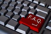 Red FAQ button — Stock Photo