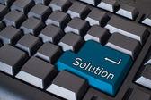 Botão de solução azul — Foto Stock
