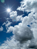 White cloud and bule sky — Stock Photo