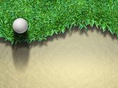 Golfboll på gräs — Stockfoto