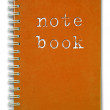 Red cover Note Book — Stock Photo #3800507