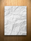 White crumpled paper — Stock Photo