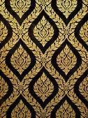 Malarstwo tajskiej sztuki złota — Zdjęcie stockowe
