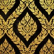 Thai art gold paiting pattern - Stockfoto