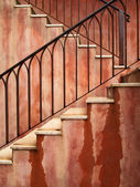 Red stair — Stock Photo
