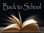 Back to school on Black board — Foto de Stock