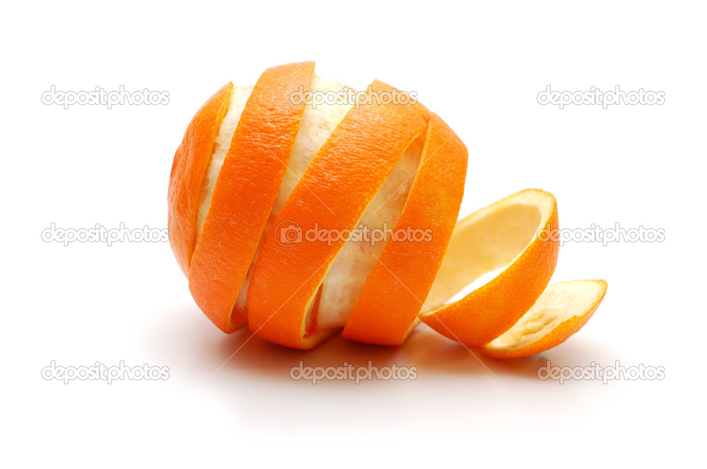 Rind  of orange cutaway in spiral shape  Stock Photo #3143127