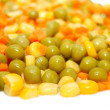 Royalty-Free Stock Photo: Mix of carrot, sweet corn and green peas