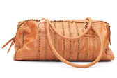 Leather bag on white background — Stock Photo
