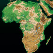 Africa map on black background — Stock Photo
