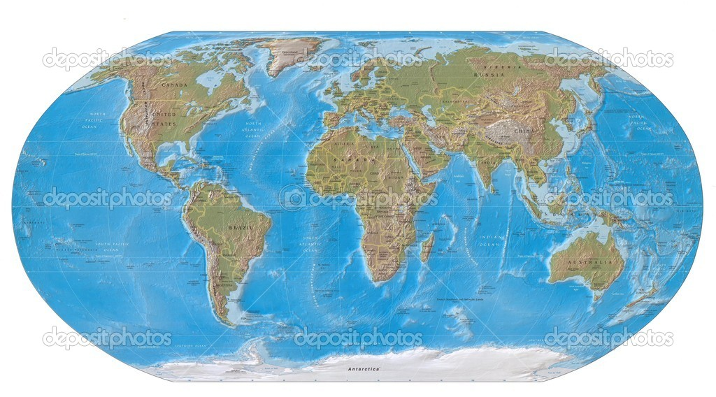 World map of earth — Stock Photo #3316756