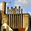Roof and chimneys — Stock Photo
