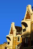 Balconies and facades — Stock Photo