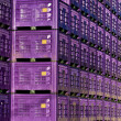 Stock Photo: Purple crates