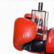 Red boxing glove — Stock Photo