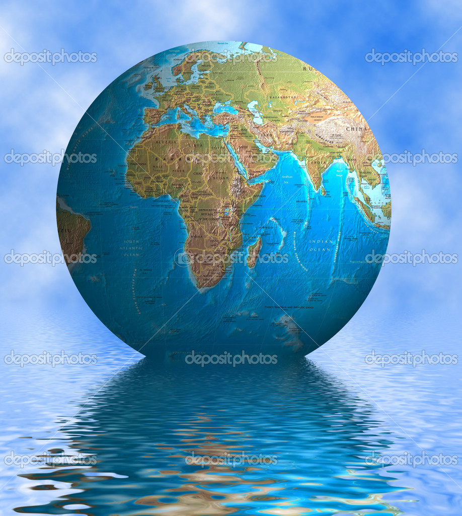 Earth and reflection  Stock Photo #3374577
