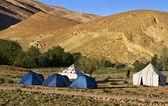 Bue tents — Stock Photo