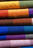 Tissus colorés — Stock Photo