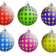 Multi-colored Christmas balls — Stock Photo #3204656